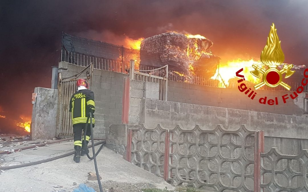 L'azienda interessata dall'incendio