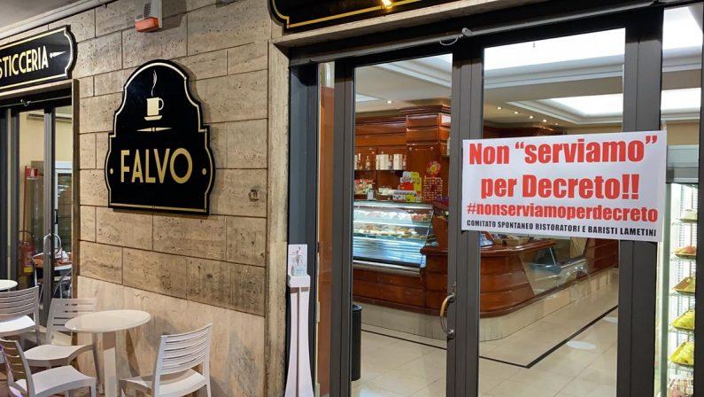 Protesta di bar e ristoranti lametini contro lo stop del governo, nasce un comitato spontaneo