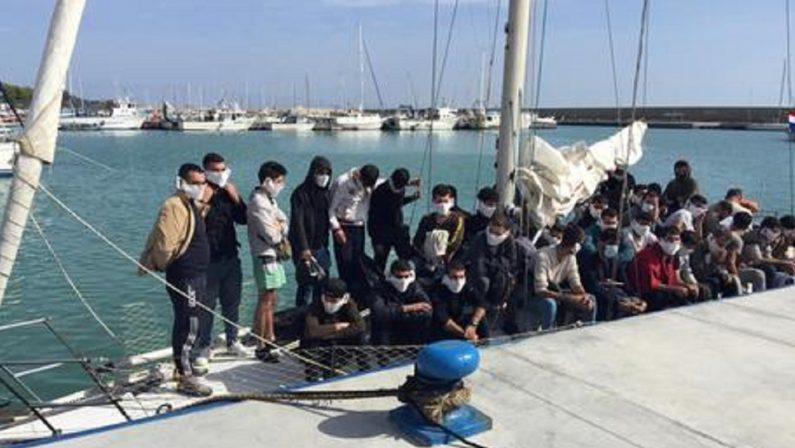 Migranti, ancora uno sbarco a Roccella Jonica: soccorse 50 persone a bordo di una barca a vela