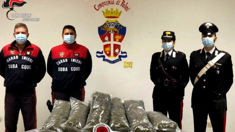 Droga, sequestrati 10 chili di marijuana nel Reggino: erano nascosti in una barca. Due arresti