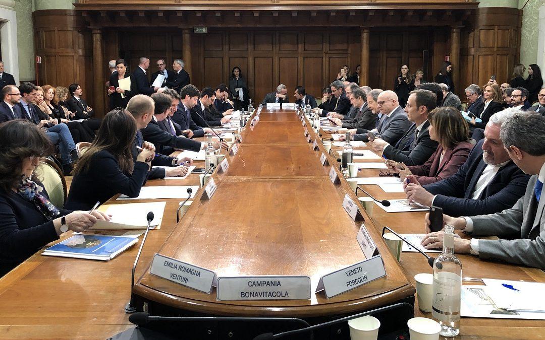 Una seduta della Conferenza Stato-Regioni