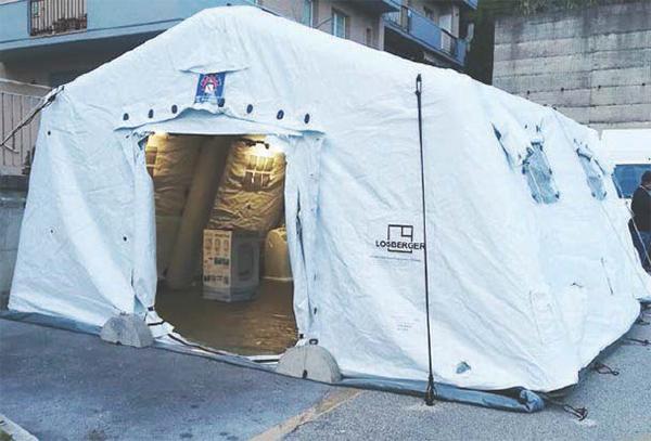 Covid-19 – Più di 3000 casi: ora le tende