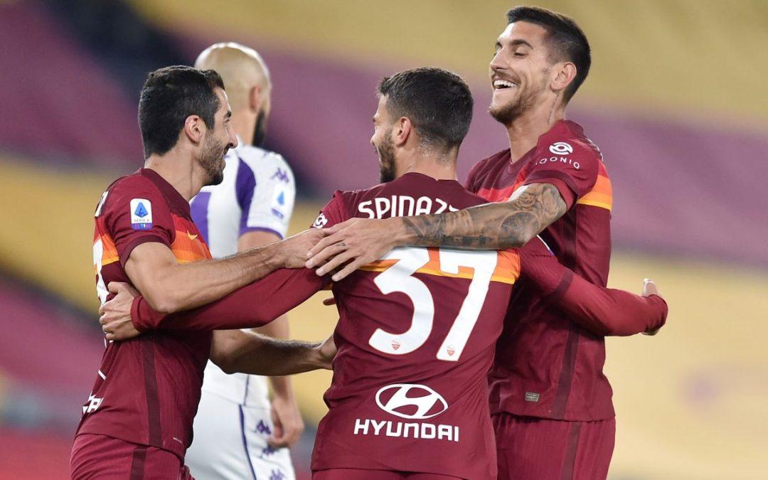 Serie A, la Roma batte 2-0 la Fiorentina, decidono Spinazzola e Pedro