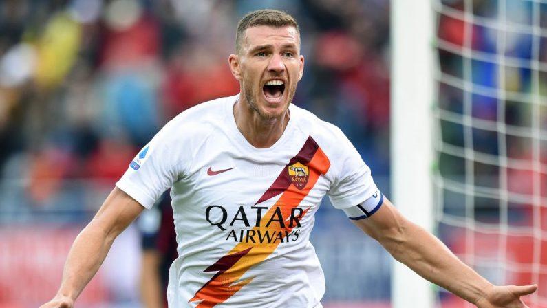 Serie A, la Roma perde Dzeko, è positivo al coronavirus e va in quarantena