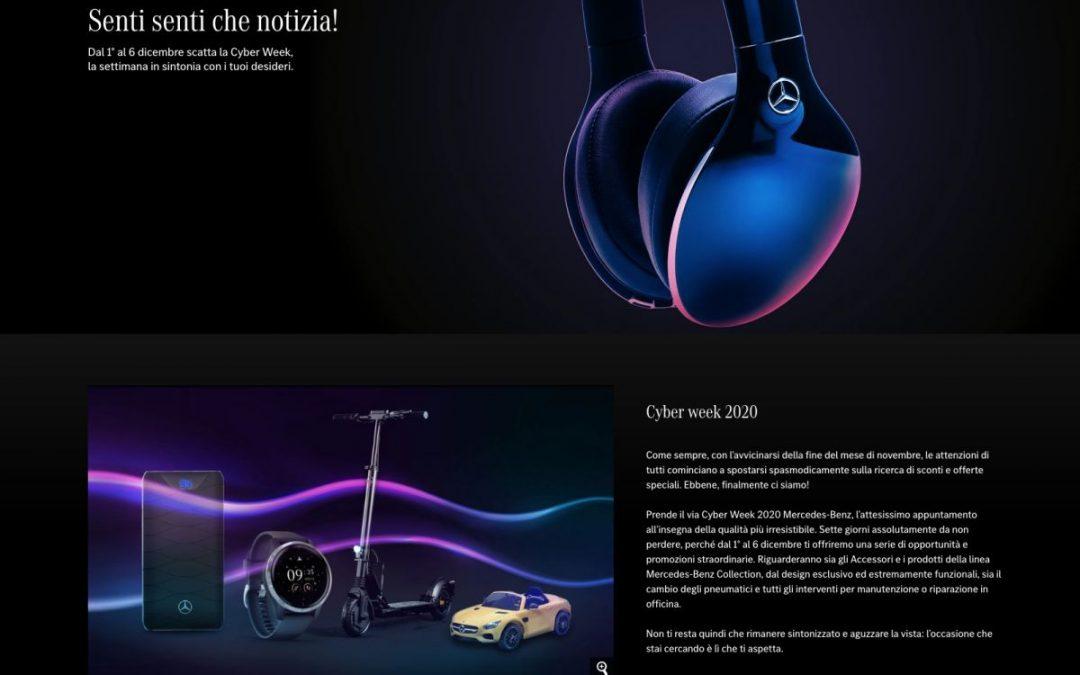 Dal 28 novembre la Cyber Week di Mercedes-Benz Italia