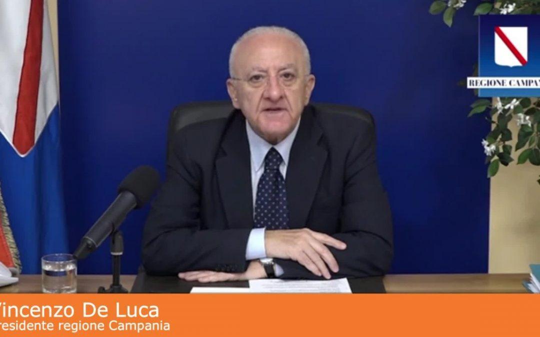"""Coronavirus, De Luca """"Divisione in 'zone' grande buffonata"""""""