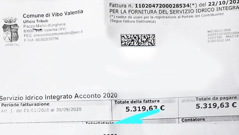 Servizio idrico, a Vibo Valentia bollette anche di 5mila euro e infiamma la polemica