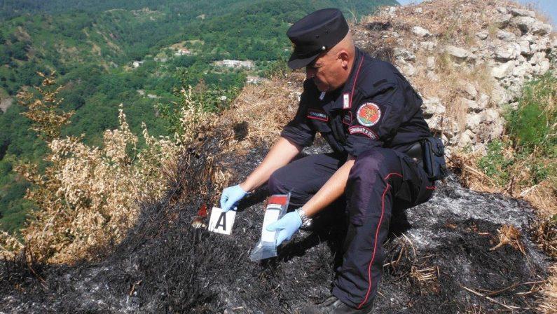 Arrestato un uomo nel Cosentino accusato di aver appiccato diversi incendi durante la scorsa estate