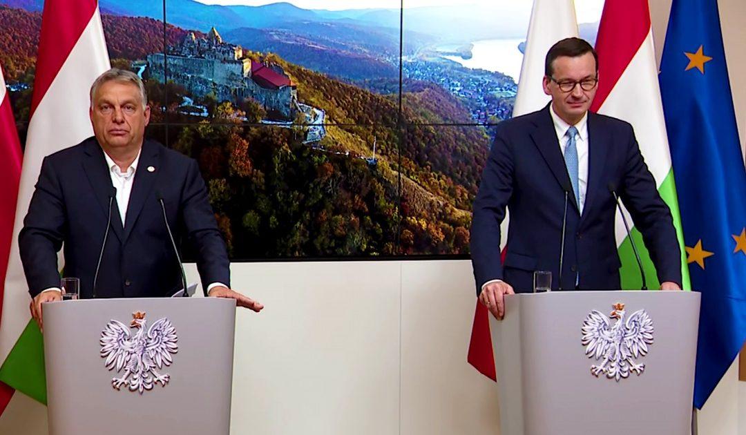 Mateusz Morawiecki, presidente polacco, e Viktor Orban, presidente ungherese