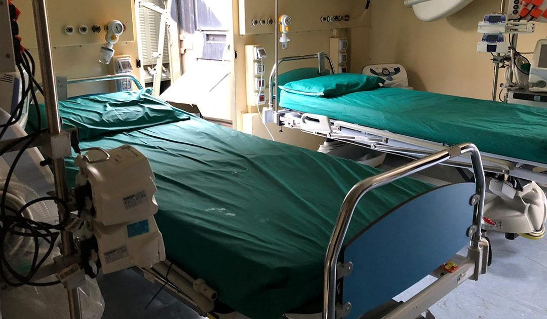 I posti letto di terapia semintensiva dell'ospedale da campo di Cosenza