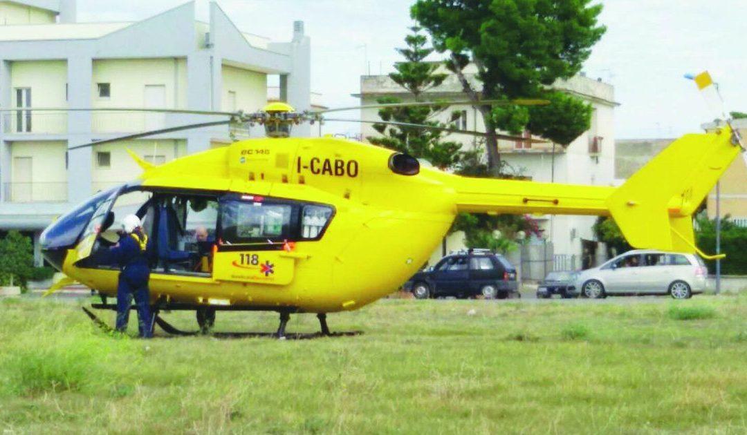 Un elicottero del 118 Basilicata