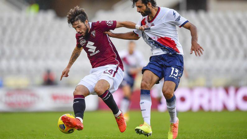 Serie A, buon pareggio del Crotone a Torino al termine di una gara con poche emozioni