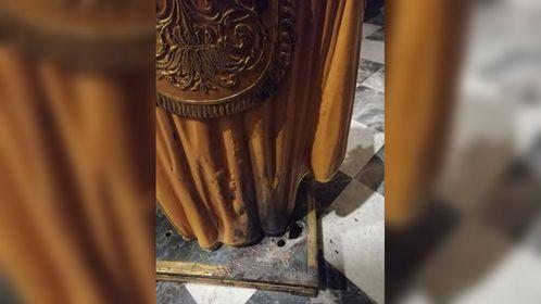 Incendio nella chiesa di San Nicola a Briatico, danneggiata la statua del santo