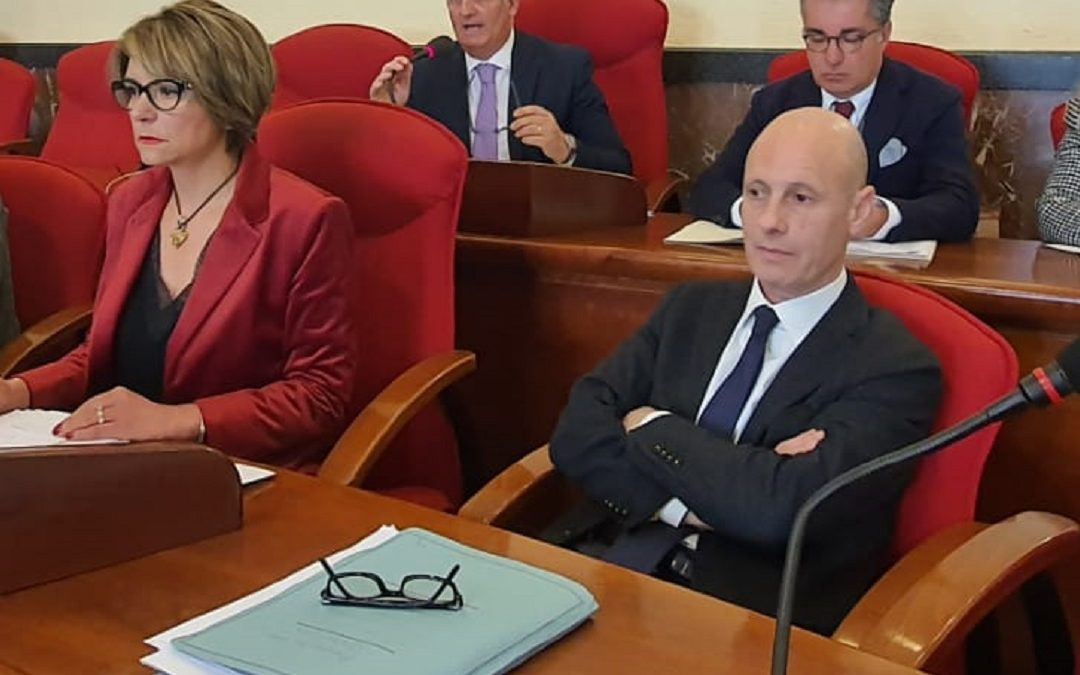 Il sindaco Maria Limardo e l'ex assessore Gaetano Pacienza