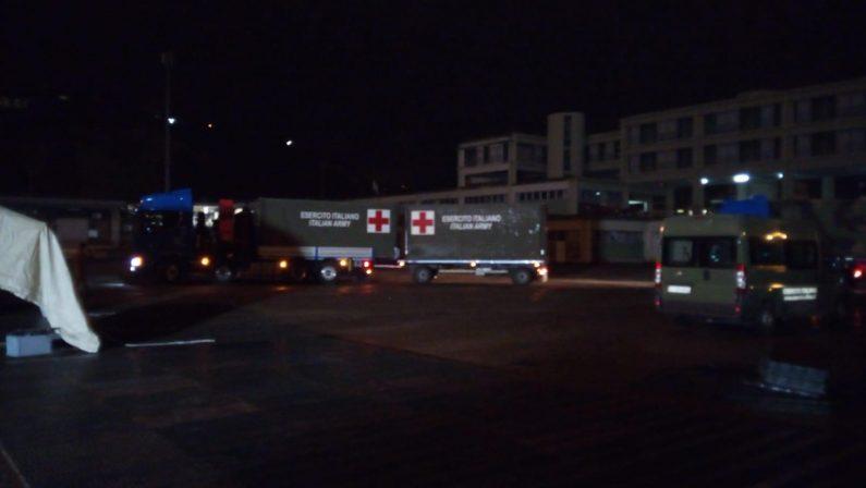 FOTO - L'ospedale da campo dal Libano arrivato a Cosenza