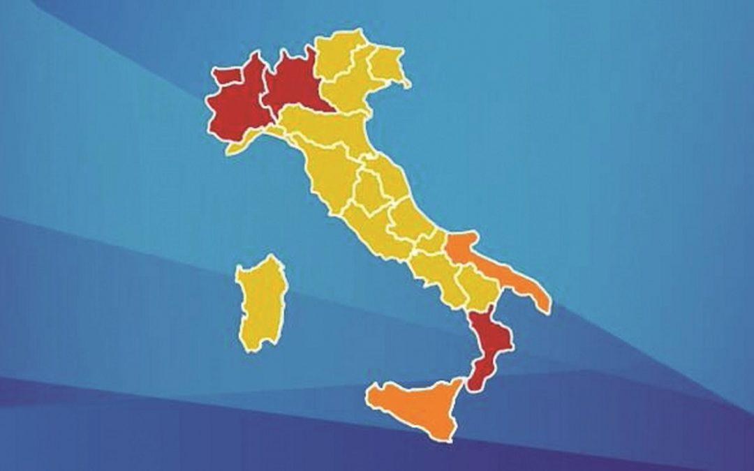 Regione Calabria Cartina Politica.Sospetti E Polemiche Sull Italia A Colori Regioni In Rivolta Calabria In Testa Il Quotidiano Del Sud
