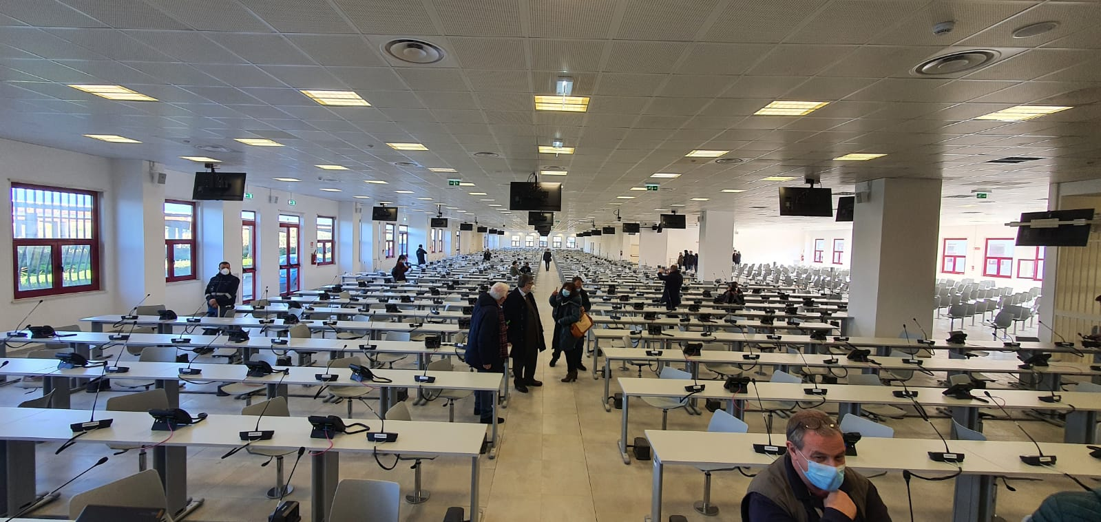 L'aula bunker che ospita il processo Rinascita Scott