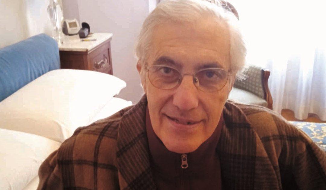 Lucio Aiello, ritornato a casa dopo più di un mese di ricovero in ospedale