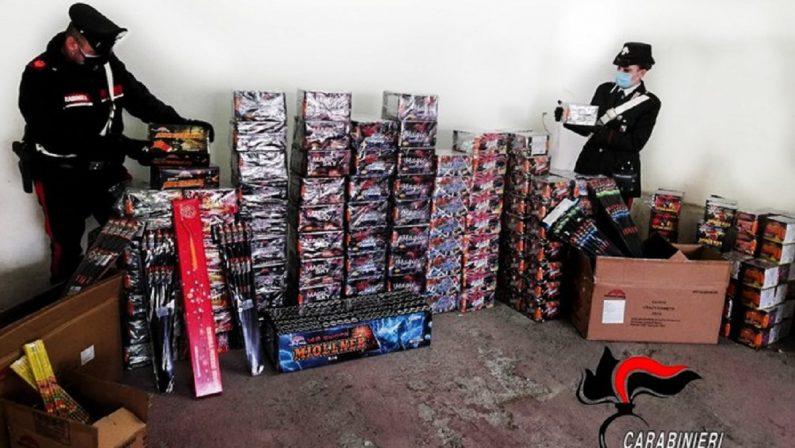 Aveva in garage oltre 400 botti ad alta pericolosità, denunciato un uomo nel Reggino