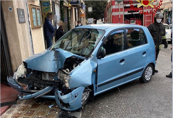 L'autovettura coinvolta nell'incidente