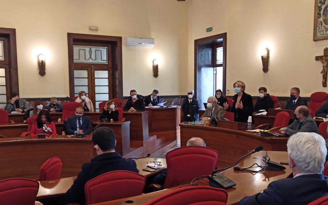 L'intervento di Maria Limardo in Consiglio comunale