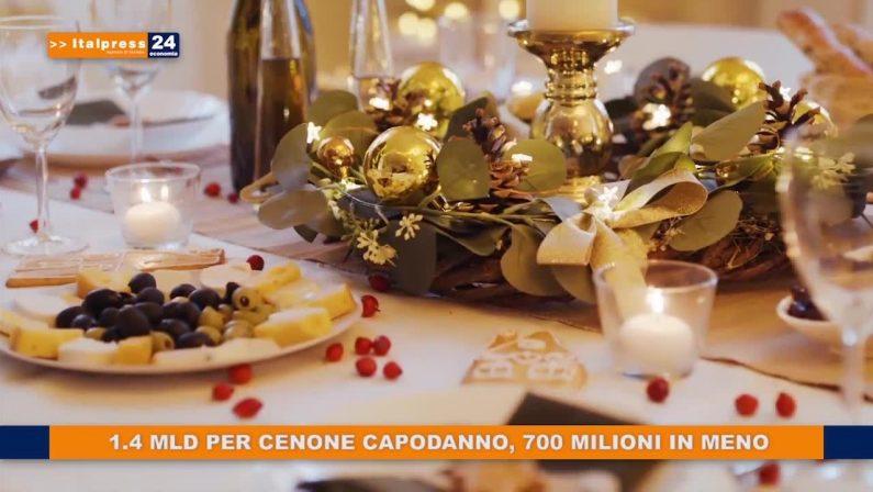 1.4 mld per cenone Capodanno, 700 milioni in meno
