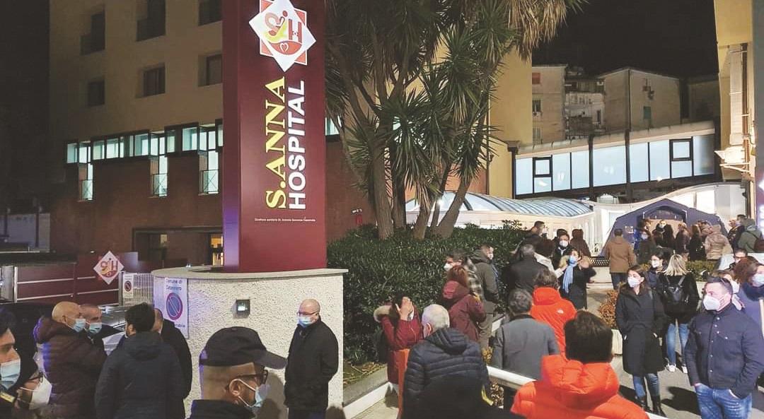 L'ingresso della clinica Sant'Anna
