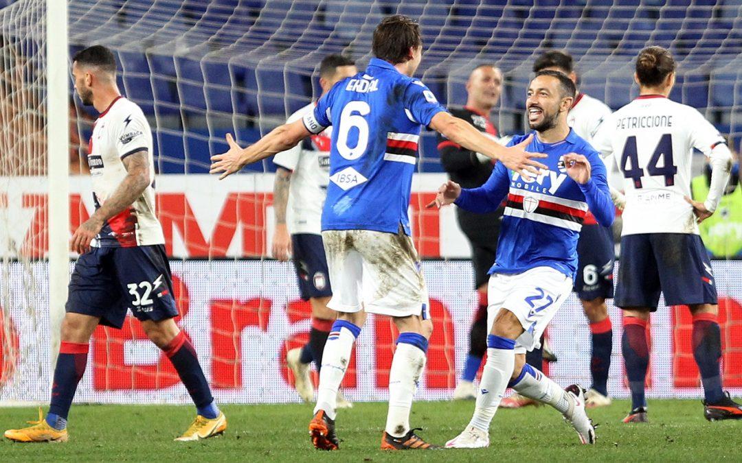 Serie A, la Samp batte un buon Crotone. Calabresi a segno con Simy
