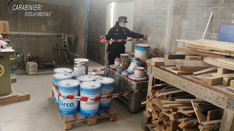 Sequestrato un opificio di verniciatura abusivo in provincia di Cosenza: denunciato il proprietario