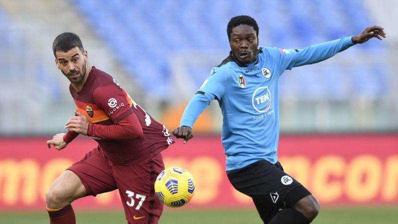 Serie A, Roma-Spezia 4-3 decide Pellegrini, Fonseca torna a sorridere