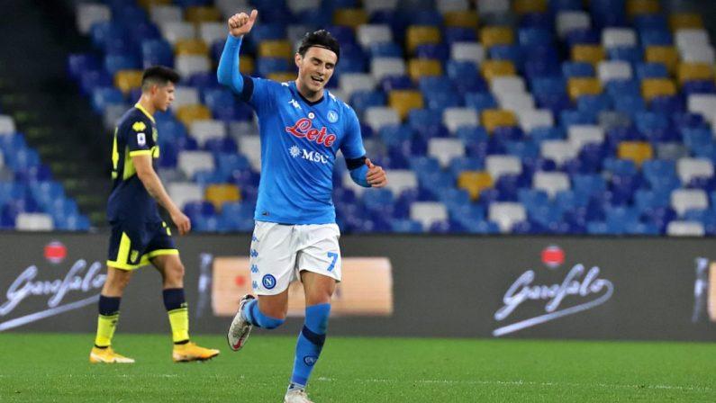 Il Napoli piega il Parma 2-0, a segno Elmas e Politano