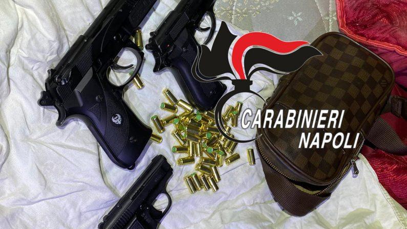 Controlli dei Carabinieri del Comando Provinciale di Napoli, rivenute 3 pistole e oltre 30 munizioni