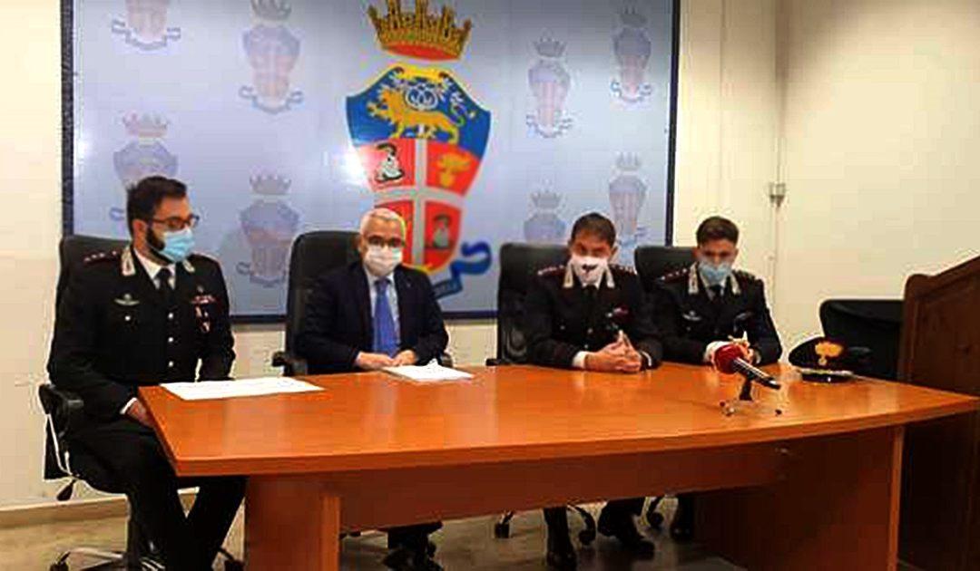 La conferenza stampa degli inquirenti