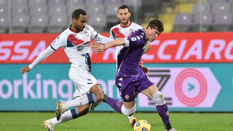 Non basta Simy, il Crotone sconfitto dalla Fiorentina