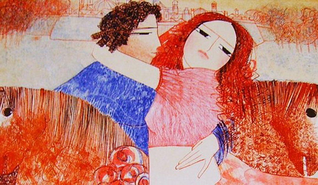 """""""Gli innamorati"""" di Dariush, pittore e poeta francese di origine iraniana"""