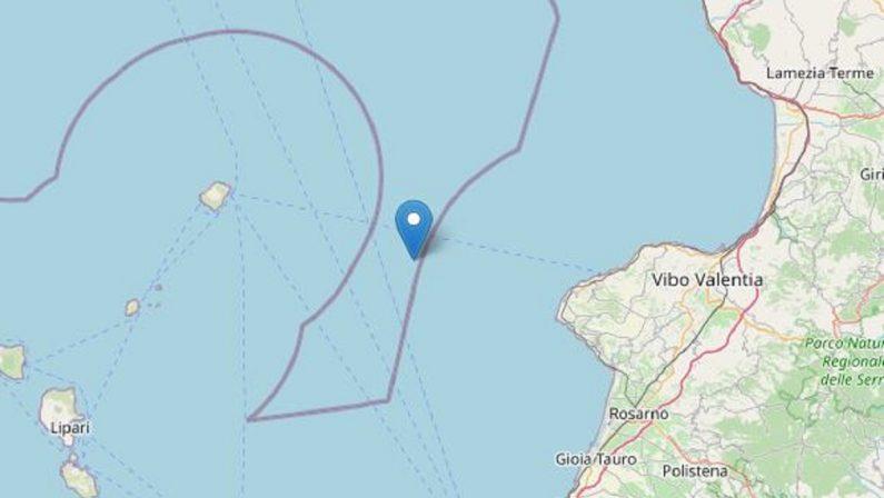 Scossa di terremoto di magnitudo 3.2 registrata nella notte tra Stromboli e la costa calabrese