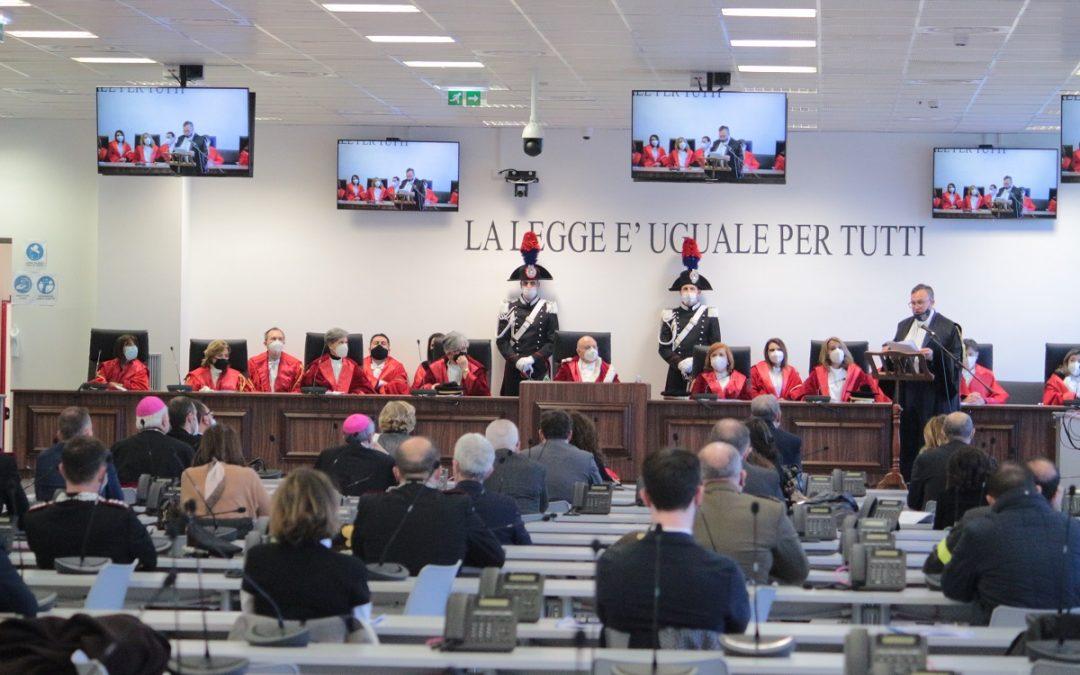 L'aula bunker di Lamezia dove oggi si è svolta l'apertura dell'anno giudiziario