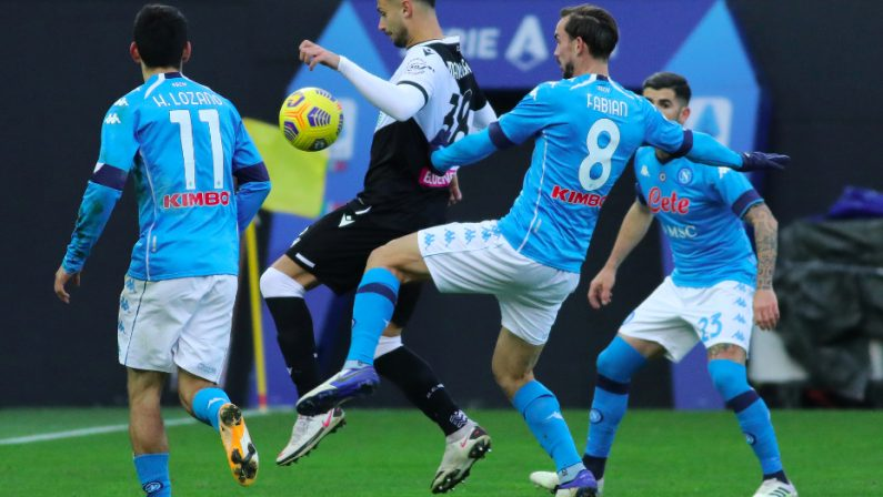 Serie A, Bakayoko affonda l'Udinese, il Napoli vince 2 a 1