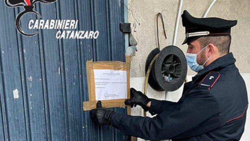 Sequestrata una carrozzeria abusiva nel Catanzarese