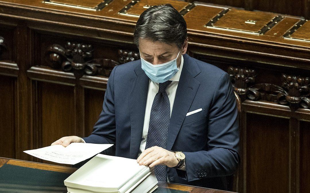Giuseppe Conte alla Camera dei Deputati per il voto finale su Legge di Bilancio