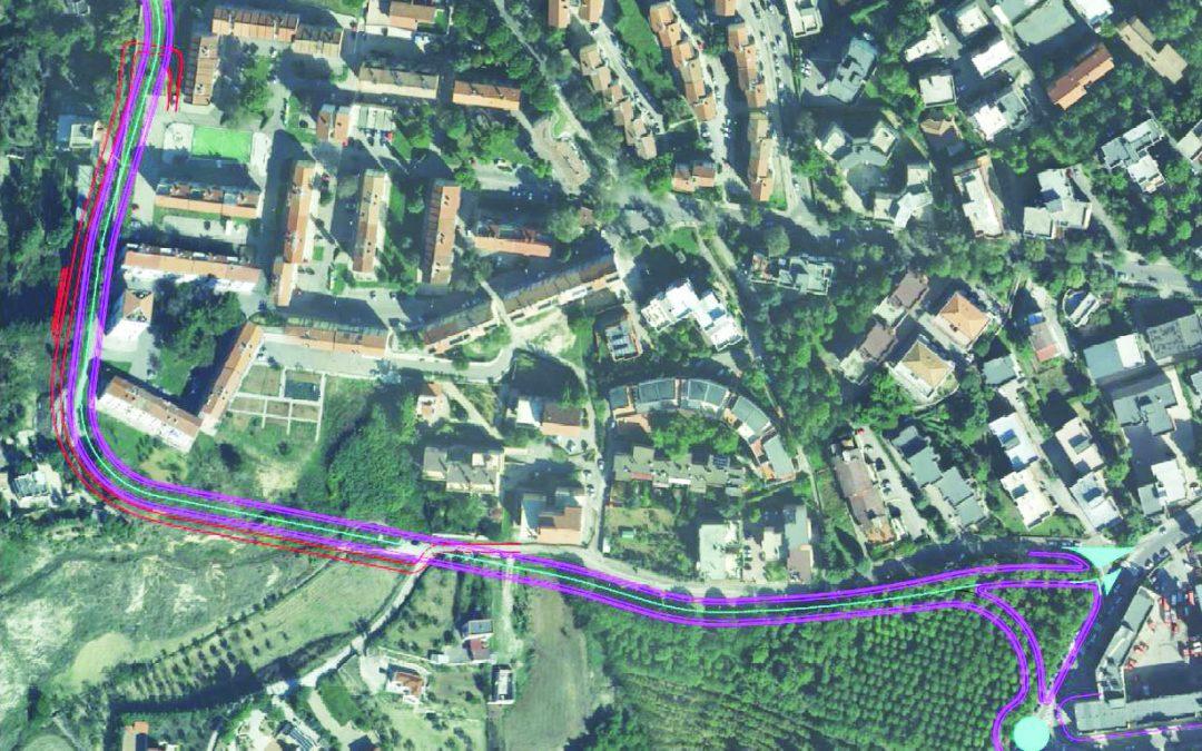 Il tracciato della Tangenziale a Matera