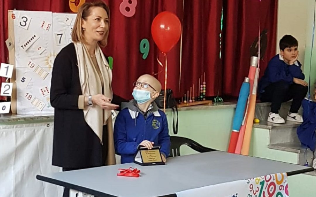 Lorenzo premiato per una gara di matematica