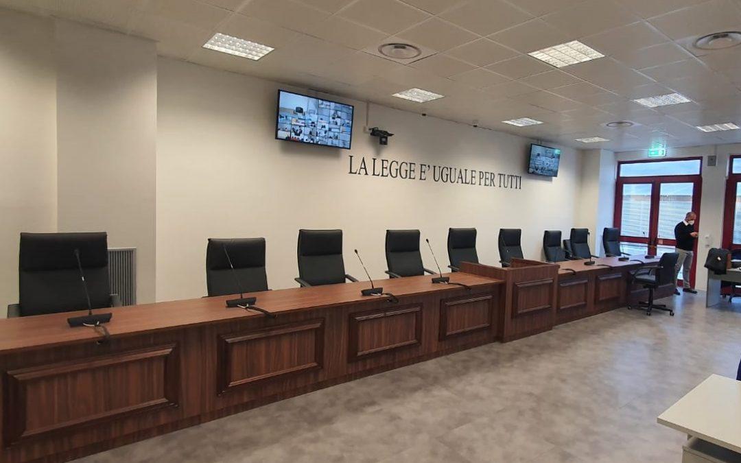 L'aula bunker di Lamezia Terme dove si celebra il processo Rinascita Scott