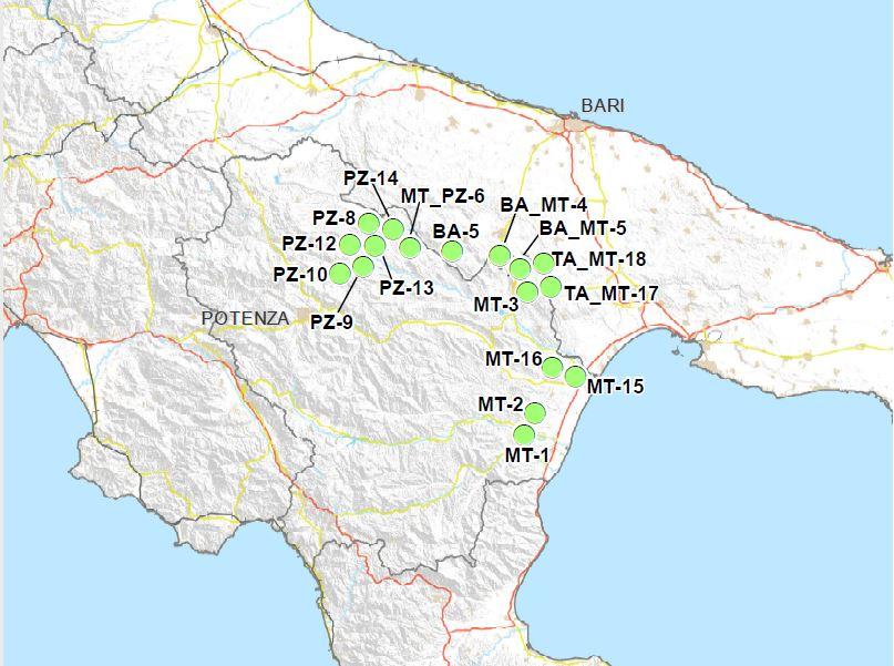 Le aree idonee di Basilicata e Puglia nella mappa della Sogin