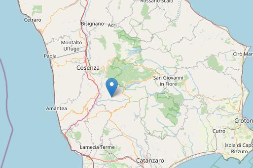 L'area interessata dal terremoto