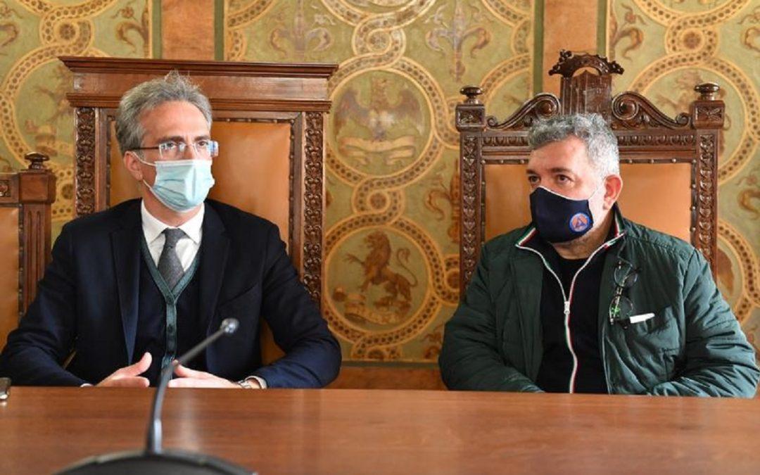 Il presidente della Camera di Commercio di Reggio Calabria, Antonino Tramontana insieme a Nino Spirlì