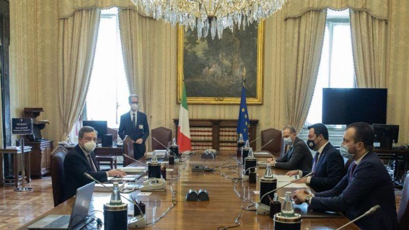 Governo Draghi, Salvini rassicura: «Siamo a disposizione, no a veti su idee e persone»