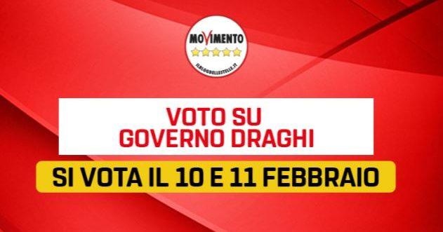 Crisi di Governo, il Movimento Cinquestelle voterà su Rousseau per decidere se sostenere Draghi
