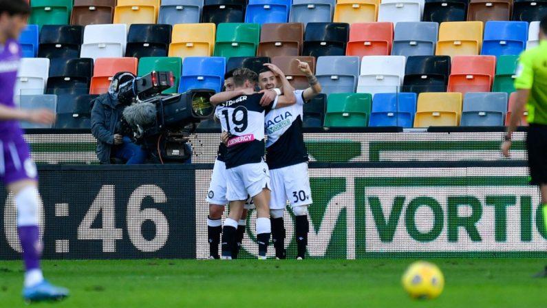 L'Udinese piega 1-0 la Fiorentina, decide Nestorovski