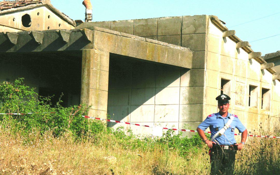 Il casolare dove è stato ucciso Marco Cassotta (foto archivio)
